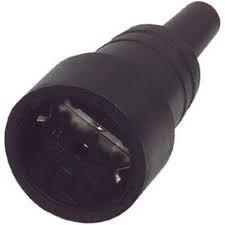 Kopp contrastekker  zwart rubber
