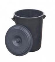 Vat 70 liter rond 60x45 cm incl deksel.