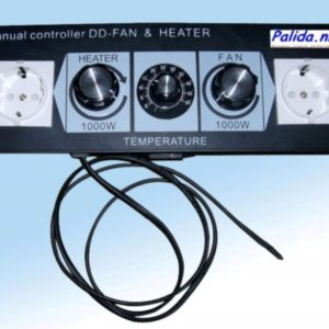 Palida fancontroller 2x 1000Watt met thermostaat DDM