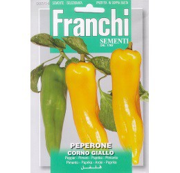 Paprika Gele Hoorn zaden Peperone Dulce Corno Giallo