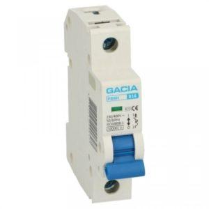 Gacia Installatieautomaat 1A 1 polig karakteristiek B 10kA