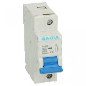 Gacia Installatieautomaat 63A 1 polig karakteristiek B 15kA