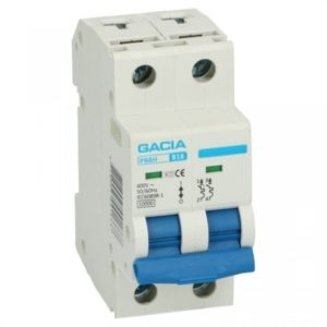 Gacia Installatieautomaat 1A 2 polig karakteristiek B 10kA
