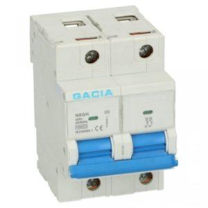 Gacia Installatieautomaat 63A 2 polig karakteristiek B 15kA