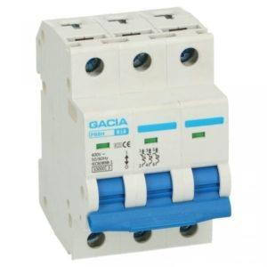 Gacia Installatieautomaat 1A 3 polig karakteristiek B 10kA