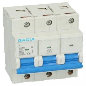 Gacia Installatieautomaat 63A 3 polig karakteristiek B 15kA