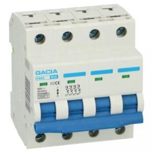 Gacia installatieautomaat 1A 4 polig karakteristiek B 10kA