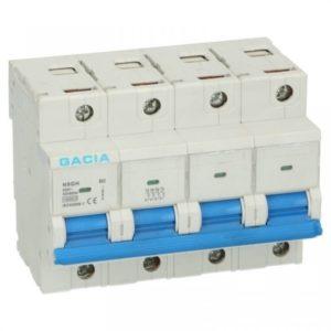 Gacia installatieautomaat 63A 4 polig karakteristiek B 15kA