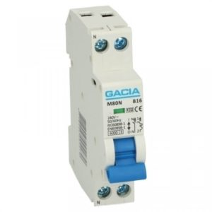 Gacia 1 polig + nul 1A karakteristiek B 6kA Installatieautomaat