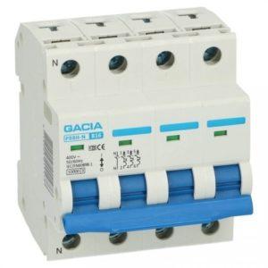 Gacia 3 polig 10A + nul  karakteristiek D 10kA Installatieautomaat