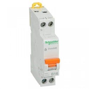Schneider Electric 1 polig + nul 10A kar B 4.5kA Installatieautomaat Domae