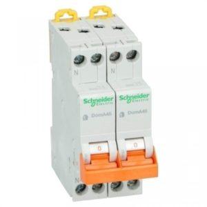 Schneider Electric Kookgroep 16A 2x 1 polig + nul B installatieautomaat Domae
