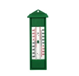 Thermometer min max groen