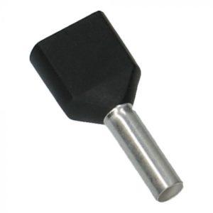 Zwart Adereindhulzen 2x 1.5mm² 500 stuks