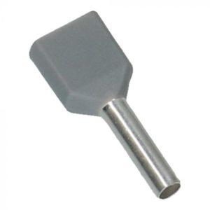 Grijs Adereindhulzen 2x 0.75mm² 500 stuks