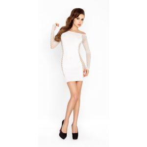 Wit mini jurkje met netstof mouwen one size