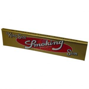 Vloei Smoking Slim goud 50 stuks per doos